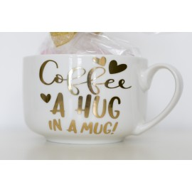 """TAZZA """"COFFEE A HUG IN A MUG"""""""